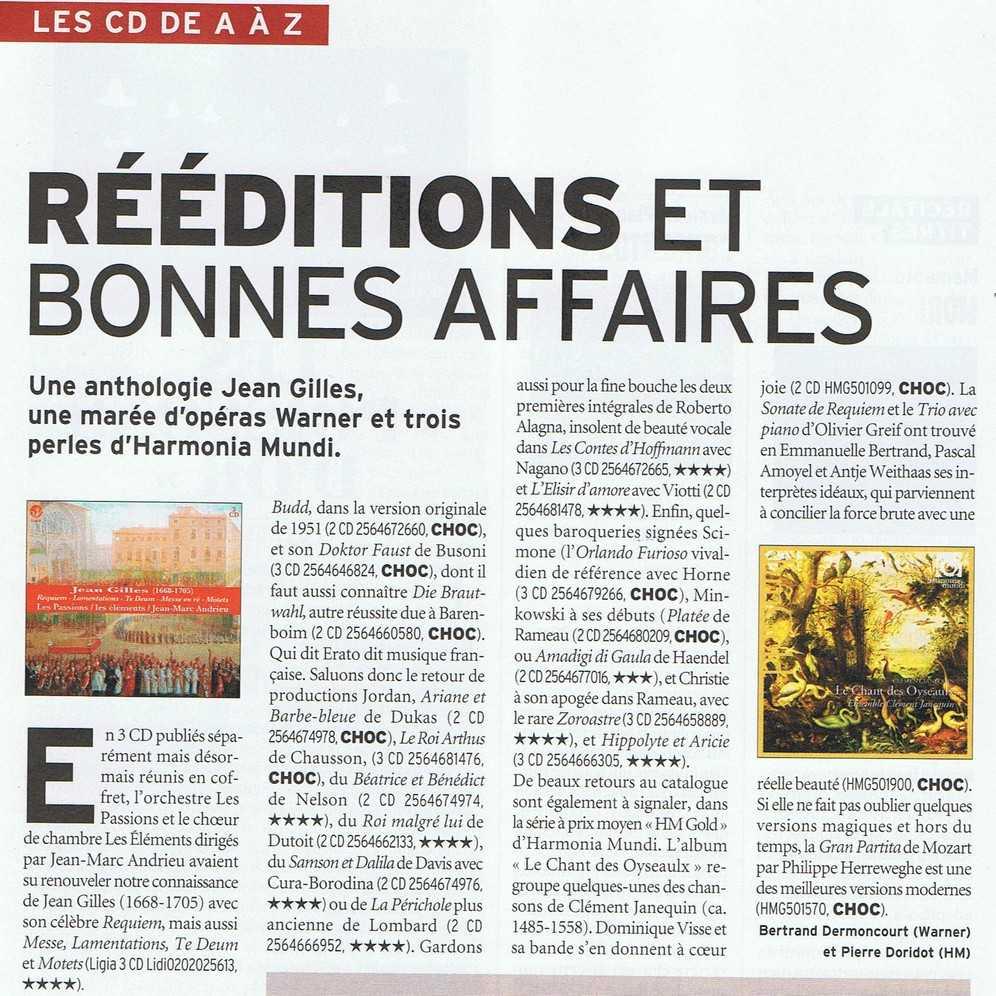 Article sur l'anthologie Jean Gilles